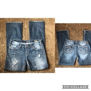 Silver Aiko jeans 30/33 distressed